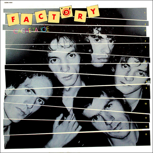 """This is the cover of the 1970s band Factory's album """"Cache ta joie"""", the soundtrack to Jean-Patrick Manchette's only theater play. Photo credit: Benardo Le Challoux, http://www.flickr.com/photos/bernardolechalloux/4548081612/, CC-BY-SA - http://creativecommons.org/licenses/by-sa/2.0/. (There do not seem to be no CC-licensed images of Manchette.)"""